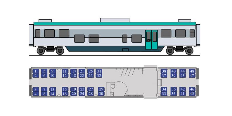 Вагоны поездов региональных линий бизнес-класса ДП3