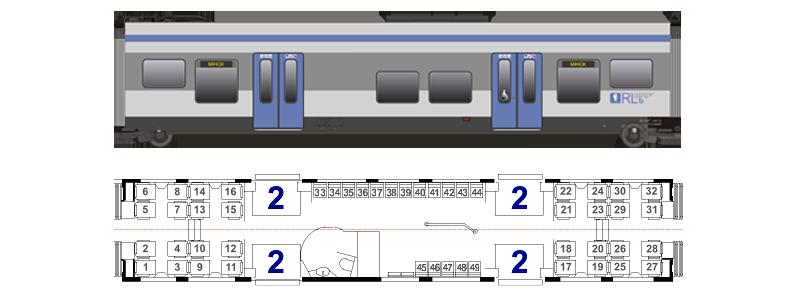 Вагоны электропоездов региональных линий бизнес-класса ЭПР