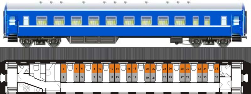 Купированный вагон «К»
